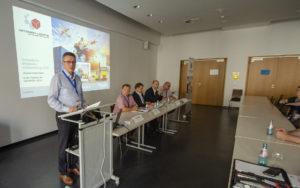 Mitgliederversammlung des Netzwerk Logistik Mitteldeutschland e. V. am 20 September 2018 in der Universität Leipzig; Foto: Andreas Reichelt