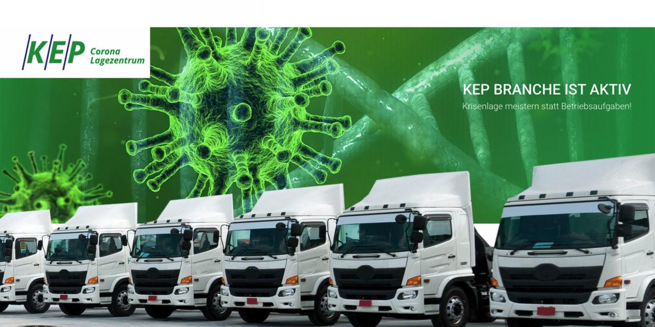 KEP-Corona-Lagezentrum / Branche sucht täglich neue Wege für eilige Sendungen