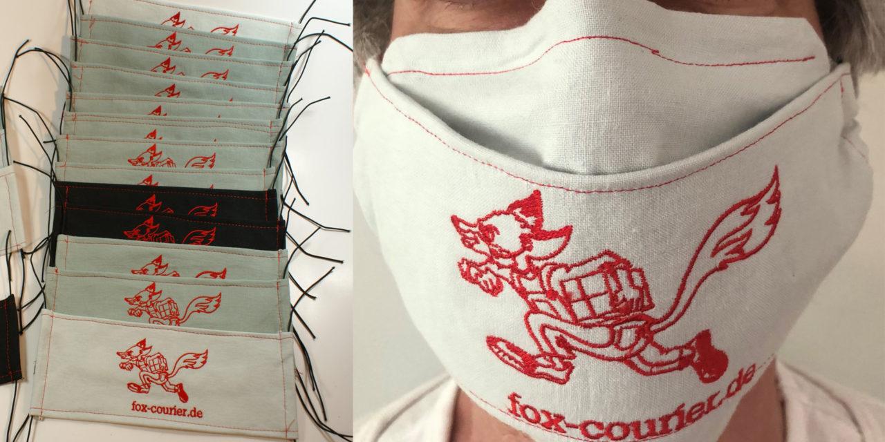 Selbst ist der Fuchs  – fox-Atemmasken für Mitarbeiter und Freunde des Unternehmens