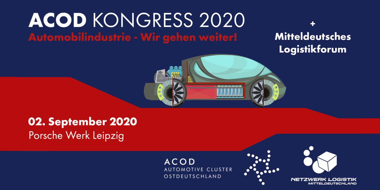 Mitteldeutsches Logistikforum zusammen mit dem ACOD Kongress am 2. September bei Porsche