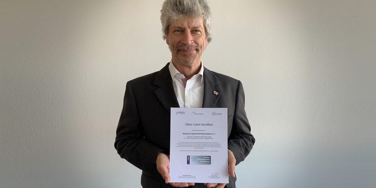 Silber-Label für das Netzwerk Logistik Mitteldeutschland