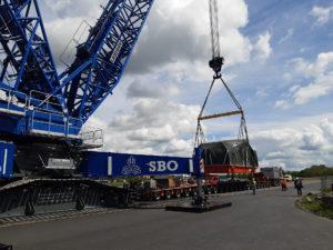 Verladung im Alberthafen Dresden; Foto: SBO