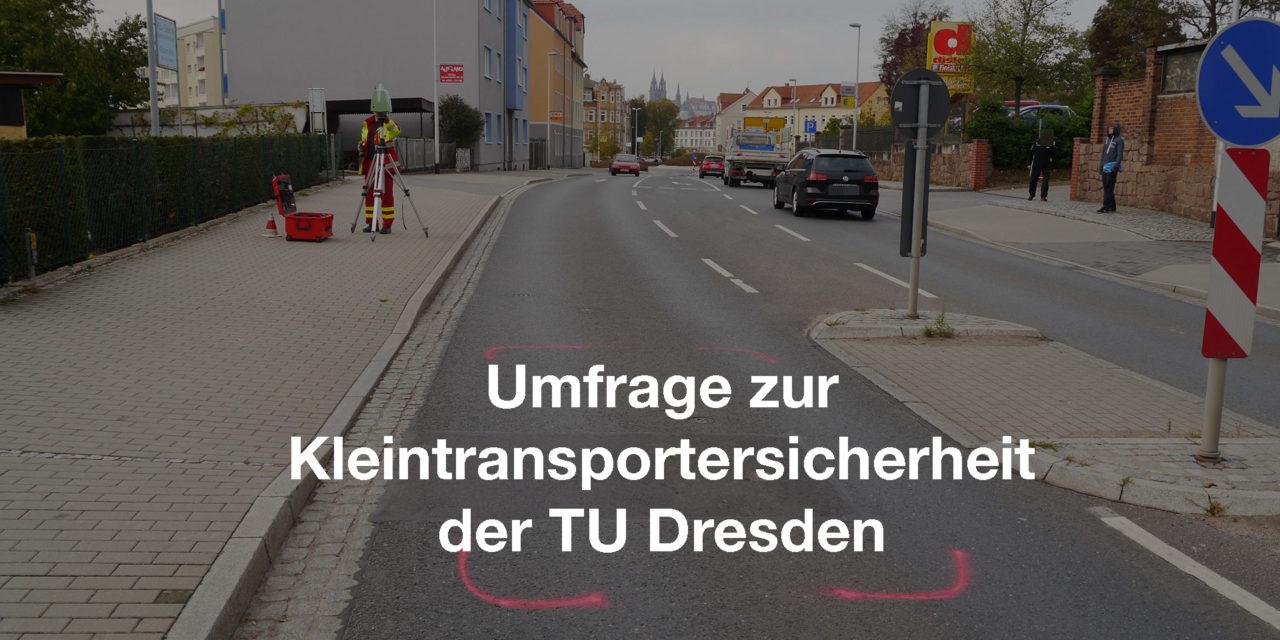 Umfrage der Verkehrsunfallforschung der TU Dresden zur Kleintransportersicherheit