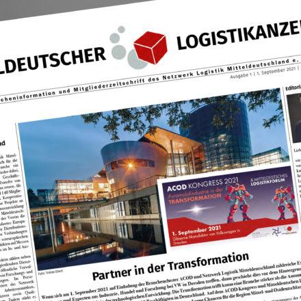 Mitteldeutscher Logistikanzeiger, Mitgliederzeitschrift des Netzwerk Logistik Mitteldeutschland